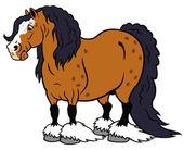 Cartoon heavy horse — Stock Vector