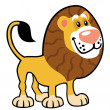Simple childish lion - Image vectorielle