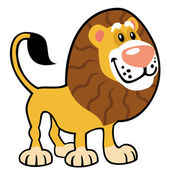 Simple childish lion — Stock Vector