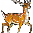 Fallow deer — Stock Vector #24902625