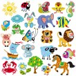 Stock Vector: Set of pictures for children
