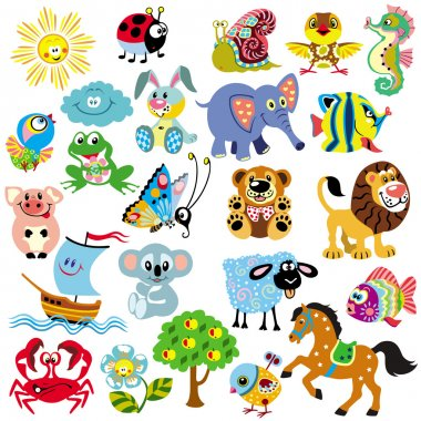 Set of pictures for children