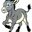 Cartoon donkey — Stock Vector