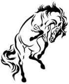 Rearing horse tattoo — Stock Vector