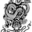 Stock Vector: Dragon tattoo