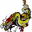 Golden Dragon — Stock Vector