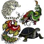 Celestial feng shui animals — Stock Vector #35961175
