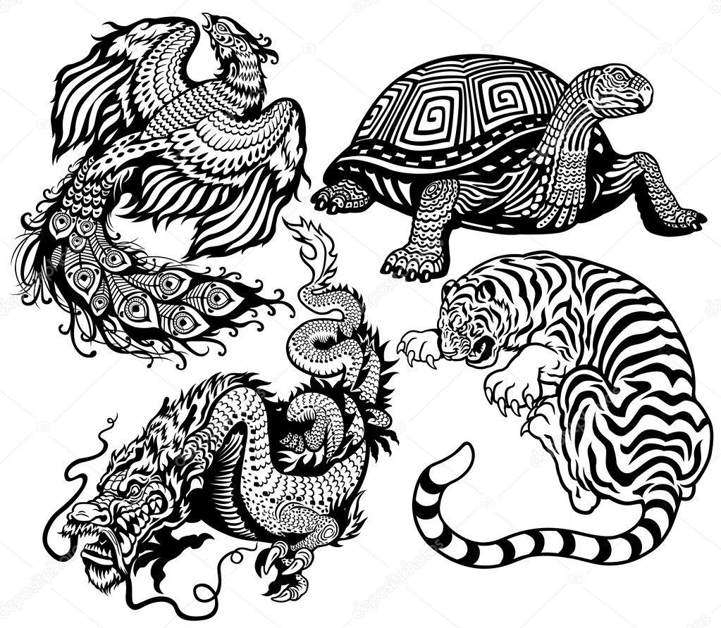 Feng Shui Baño Norte:Feng Shui Dragon Turtle Tattoo
