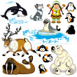 Set with cartoon arctic — Stock Vector #36080453