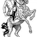 Horse rider black white — Stock Vector #39612619