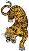 Leopard — Stockvektor