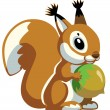 Cartoon squirrel — Stock Vector