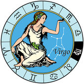 Virgo zodiac — Stock Vector