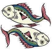 Pisces — Stock Vector