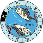 Pisces zodiac — Stock Vector