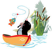 Fishing mole — Stock Vector