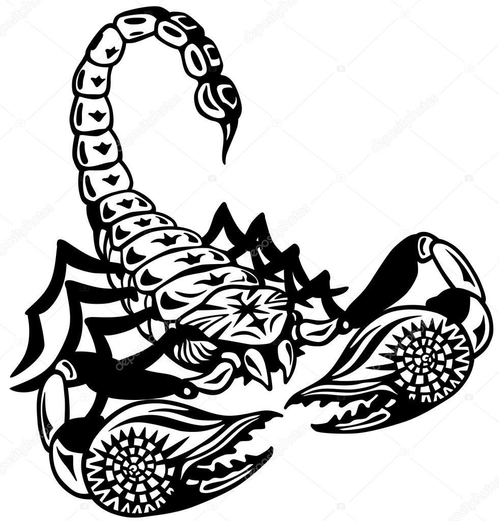 Графические рисунки скорпионов