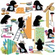 Set working home renovation — Stock Vector #51349745