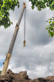 The end of a mobile crane — Stock Photo