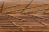 Steel rebar for reinforced concrete — Stock Photo