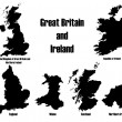 Great Britain + Ireland — ストックベクタ