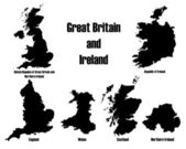Great Britain + Ireland — Stock Vector