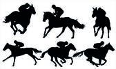 Paardenrennen — Stockvector