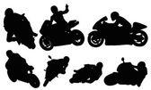 Wyścigi motocyklowe — Wektor stockowy