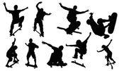 Skateboarden — Stockvektor