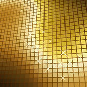 Abstract glittering golden mosaic vector background. — Stock Vector
