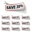 Discount vector labels - Stock Vector