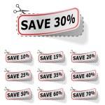 Discount vector labels — Stock Vector #12476976