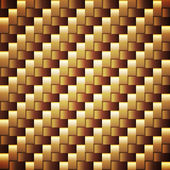 Seamless golden webbed vector square texture. — Stock Vector