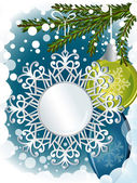 Christmas decorations card with copy space. — Stock Vector