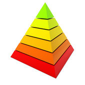 Color pyramid diagram isolated on white background. — Stock Photo