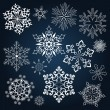 Stock Vector: Set of snowflake shapes