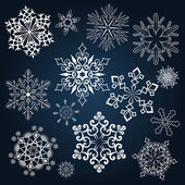 Set of snowflake shapes — Stock Vector