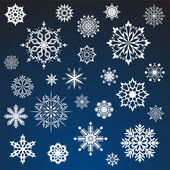 Snowflakes vector collection — Stock Vector