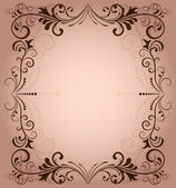 Floral vector frame for invitation with copy space. — Stock Vector