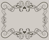 Beige ornate floral frame background with copy space. — Stock Vector