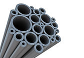 Industrial background with tubes — Stock Photo