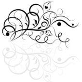 Czarny i biały wzór kwiatowy elementem. — Wektor stockowy