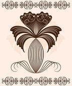 Abstract flower ornament. decor element. — Stockvector