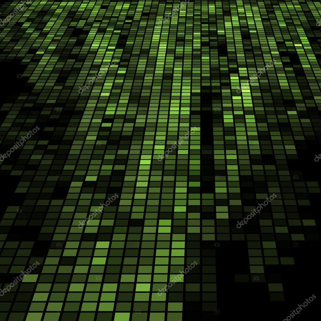 Fundo De Tecnologia Do Mosaico 3d Verde Escuro Vetor De