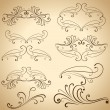 Royalty-Free Stock Vector Image: Vintage calligraphic design elements and dividers.