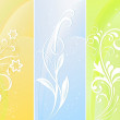 Vertical color floral vector banners. — Stock Vector #14167408