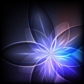 Abstract blue light flower vector background. — Stock Vector