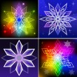 Stock Vector: Colorful snowflake shapes backgrounds.