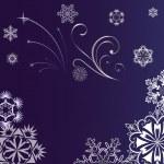 Nový rok pozadí s ozdoba vločka — Stock vektor