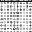 Big set of vector snowflakes — Stock Vector